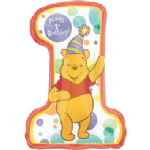 "21"" Winnie the Pooh - Pooh 1st Birthday SuperShape Balloon"
